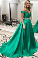 Dark Green Prom Dresses 2021 Formal Evening Party Pageant Gowns Special Occasion Dress Dubai Beaded Sash