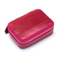 Cosmetic Bags & Cases Lady Lipstic Bag With Mirror Mini Woman Wallet Cow Leather Coin Pure Change Female For Girl