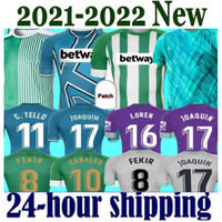 2021 20 21 Jersey de football de Betis Real Joaquin Loren Boudebouz Bartra Bartra Home Support Culture Culture commémorative Edition Fekir 2022 Hommes Jerseys