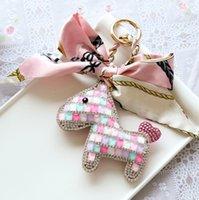 مصمم أزياء المرأة الحصان حقيبة مفتاح سلسلة bowknot مفتاح خواتم سيارة قلادة اكسسوارات عيد السنة الجديدة هدية
