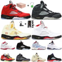 Nike Air Jordan Retro 5 Jumpman 5 5s Womens Basketbol Ayakkabı Yeni Ateş Kırmızı SatenÜrdünRetro Atletizm Hava Eğitmenler Spor Sneakers Ayakkabı Boyut Eur 47