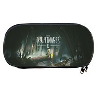 Wallets Game Little Nightmares 2 Pencil Cases Kids Cartoon 3D Printed Multifunction Box Student Pen Bag Stationery