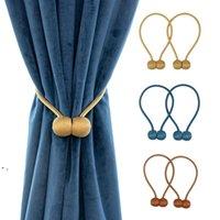 Gardin tieback hemfärger magnetisk hållare krok spänne clip gardiner tickbacks polyester dekorativa hem tillbehör owb9177