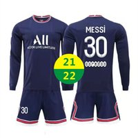 ABD Hızlı 2021 Ev Formaları Futbol Giymek Yetişkin Eğitim Eşofman 21 22 Messi Jersey Uzun Kollu Kiti Setleri Spor Çocuk Futbol Gömlek Üniformaları 2022 LOGOSU # BLZ-21A1