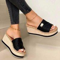 Sandals Summer Womens High Heels Sandal Thick Bottom Casual Shoes Ladies Wedges Woman Platform Slipper