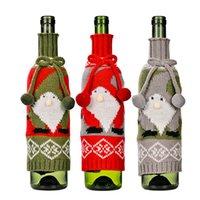 Boże Narodzenie wina butelki pokrywa gnome śnieżynka śnieżynka sweter xmas domu nowy rok party dekoracji xbjk2108