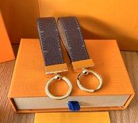 Marke Keychain 2021 Designer Schlüsselanhänger Herren Luxus Auto Schlüsselanhänger Womens Schnalle S Handgemachte Leder Männer Frauen Taschen Anhänger Zubehör