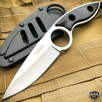 Tactical Knife Fixed Blade Hunting Knifes Survival Saber with Hard Belt Scabbard Brand