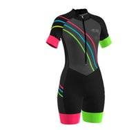 2021 Summer Womens Short Sleeve Cycling Jersey Set Skinsuit Jumpsuit Maillot Bicycle Ropa Ciclismo Gel Pad DN004
