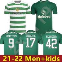 Hombres + Kits Kit 22 22 Celtic Soccer Jerseys 2021 2022 Inicio McGregor Brown Griffiths Edouard Away Forrest Christie Roberts Fútbol Uniforme