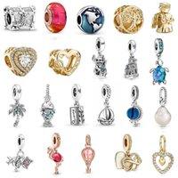 Original Ocean Series Treasure Box Genuine 100% 925 Sterling Silver Pendant fit Charms Bracelet Bead Hot Air Balloon DIY Jewelry