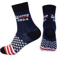Trump 2024 Socks Us Flag Stars Stripes Cotton Stocking Sock US Presidential Election Trump teenager Medium hiphop Socks gifts G94FODX