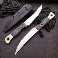 Yüksek Kalite 15500-1 Survival Düz Avcılık Bıçağı S45VN Saten Blade Tam Tang G10 Kolu Kydex ile Sabit Bıçaklar Bıçaklar
