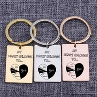 Keychains Bag Keychain My Heart Belongs To You For Girfriend Boyfriend Key Ring Pendant Jewelry Tag Lover Couples Gift Color Choose