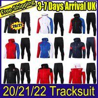 PARIS Full Zip Hoodie Jacke Fussball Hooded Sweat Football Real Madird Tracksanzug 2122 2021 Traininganzug 20 21 Winter Pants Kit