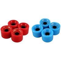 -Puente 8Pack Kaykay Tekerlekleri PU Giyilebilir Esnek Dayanıklı 70x51mm Rebuilding veya Tamir Takımı Mavi Kırmızı Kaykay