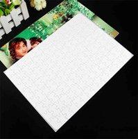A4 Sublimação em branco Puzzles Calor Impressão Jigsaw Quebra-cabeça com 120 peças Calor Prensa Transfer Crafts Cafés Crianças Presente A02 S 1