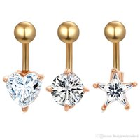 14G Belly Navel Ring mix 3 style 24pcs lot clear zircon Woman belly button ring body piercing jewlry 14G Star Dangle Gauge for girl