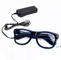 الجملة البند led حزب نظارات الأزياء سلك نظارات عيد هالوين حزب بار الزخرفية المورد نظارات مضيئة FWB10428