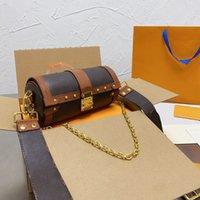 Borse a tracolla a tracolla a forma di barrelo borse a tracolla borse in pelle Handbag ad alta capacità borsa da sera Shopping con imballaggio squisito Dimensioni 20-10-10 cm