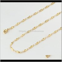 Chains Necklaces & Pendants Jewelry3Pcs Initial Chain Necklace For Women Girls Gold Sier Plated Stainless Steel Wedding Jewelry Body Colar Ch