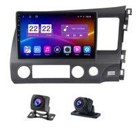 10.1 인치 자동차 DVD 플레이어 Honda Civic 2004-2011 RHD GPS 라디오 디스플레이 All-in-One Capacitive 스크린 미러 - 링크 안드로이드 10.0 24 시간 주차 모니터
