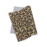 30x20cm A4 Tableau Soft Soft Tissu Print Léopard Animal Feltro Kindergarten Enfants Fournitures à la main Fournitures Feutrine DIY Bow Y0816