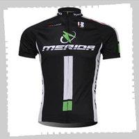 Ciclismo Jersey Pro Team Mérida Mens Summer Summer Seco Quick Seco Uniforme Bicicleta de Montaña Camisas Camisetas de bicicletas de carretera Ropa de carreras Ropa deportiva al aire libre Y21041211
