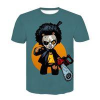 Men's T-shirt 2021 Summer Fashion Personality Leisure Trend Naruto 3d Digital Printing Short Sleeve Children's Wear
