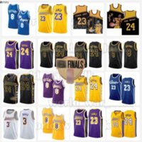 Los Lebron 6 James Jersey Angeles Angeles 23 Jerseys Anthony 3 Davis Kyle 0 Kuzma Lower Merion College LBJ 2021 Homens Basquete Black Mamba