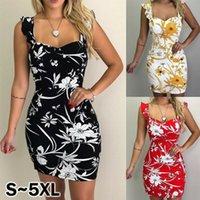 Women Sleeveless Bodycon Wrap Mini Dress Casual Floral Loose Party Sexy Sundress