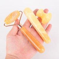 Massaggiatore a rulli di giada Topazio Topaz Thorn Testa Massaggio Rullo Giada Massaggio Stick Stick Fungo Shaped Haircut Jade Beauty Bar