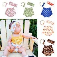 15798 Europa moda verão bebê pp calças headband conjunto legal bebês knot bunny orelha headbands shorts 3 pcs / set