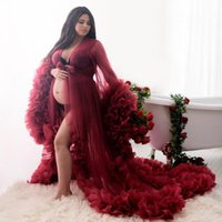 Maternity Dress for Photoshoot or Babyshower Maternity Evening Gowns Designer Shooting Dress Long Sleeves Prom Dress 2021