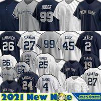 99 Aaron Jersey Baseball 2 Derek Jeter 45 Gerrit Cole 26 Nouveau DJ Lemahieu York Giancarlo Stanton Gleyber Torres Gio Urshela Aaron Hicks