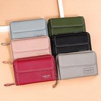Wallets Women Long PU Leather Zipper Coin Purses Tassel Design Clutch Female Money Bag Holder