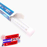 25Pack T8 LED Tube Lights 8ft 94INCHES, 72W 100W 144W Forma a V Dual-Sided integrata, AC85-265V, SMD2835 Custodia chiara