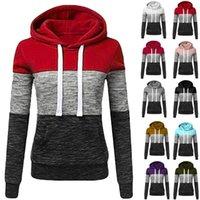 Aesthetic Hoodies Womens Sweatshirt Patchwork Ladies Hooded Blouse Pullover Tops Mujer Women's & Sweatshirts