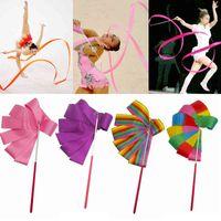 2m / 4m Cintas de gimnasio colorido cinta de baile arte rítmico arte násico ballet streamer girling varilla barra para entrenar profesional