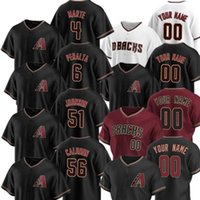 2021 Arizona 4 Ketel Marte Jerseys مخصص Taylor Clarkke Junior Gurara 6 Starling Marte Corbin Martin Lopez Randy Johnson Baseball Jersey