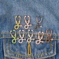 Infirmière médecin stéthoscope émail broche broches créatifs broches badges pour femmes hommes Mode bijoux cadeau