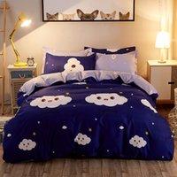 Textiles estilo nórdico rosa corazón ropa de cama con ropa de cama linda ropa de cama cubiertas de edredón y pillowcas reina rey tamaño casero conjunto de textiles 1291 v2
