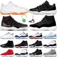 Jordan 11s Basketballschuhe Retro Jordan 11s Air Jorden Jumpman 11 72-10 Coole Grey Citrus 25. Jubiläum Concord Legend Blue Herren Womens Trainer Turnschuhe