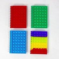 Cuaderno de la cubierta de silicona de la burbuja de la burbuja del dedo del juguete de la descompresión, los cuadernos, los juguetes del dedo de los dedos del escritorio DHL