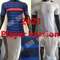 플레이어 버전 프랑스 2021 국가 대표팀 축구 유니폼 벤즈마 MBappe Griezmann Hernandez Varane Giroud Thauvin Kante Pogba 축구 셔츠