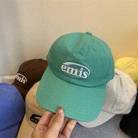 EMIS CAP IU parásticos com homens e mulheres com elegante Sun Chapéu Canção Hye Kyo Han Edição Lazer Feminino Boné Boné Popular Logotipo