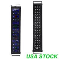 """Renkli LED Akvaryum Işık 3 Kontrol Modları 24 """"36"""" 48 """"Tam Spec Bitki Balık Tankı 42 66 87 LEDS 10000 K Beyaz Işıklar 460nm Mavi 625nm Kırmızı 525nm Yeşil"""