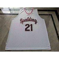 1211211Rare jersey de basquete homens juventude mulheres vintage # 21 rudy gay arcebispo spalding High School College tamanho s-5xl personalizado qualquer nome ou número