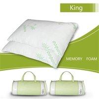 Azionamento degli Stati Uniti Moto Ipoallergenico Fibra di bambù Memory Memory Foam Cuscino King Morbido e confortevole Traspirante Assorbi Anti-acaro anti-batteri di sudore (singolo)