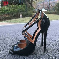 14cm Femmes Extreme High Heels High Toe Cross Toe Cross Stept Strap Sangle Drive Queen Fetish SM Dresser Gay Unisexe Chaussures Plus Taille 48 210610